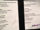Setlist Therion 1